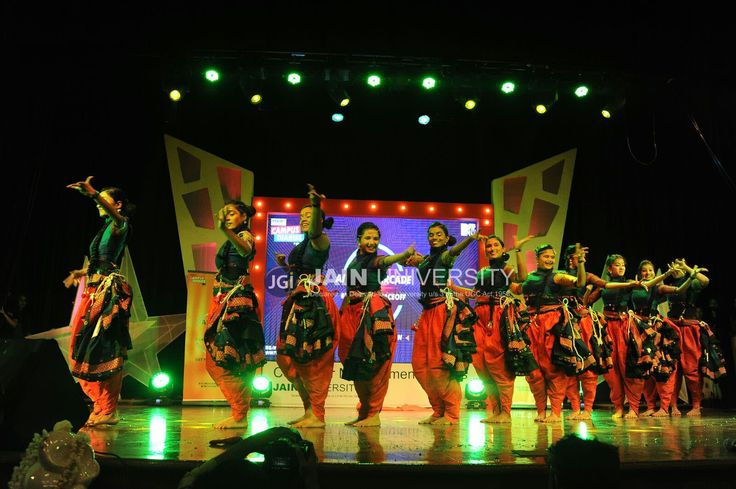 Students striking the right pose on the dance floor at CMS FEST 2016, JAIN UNIVERSITY