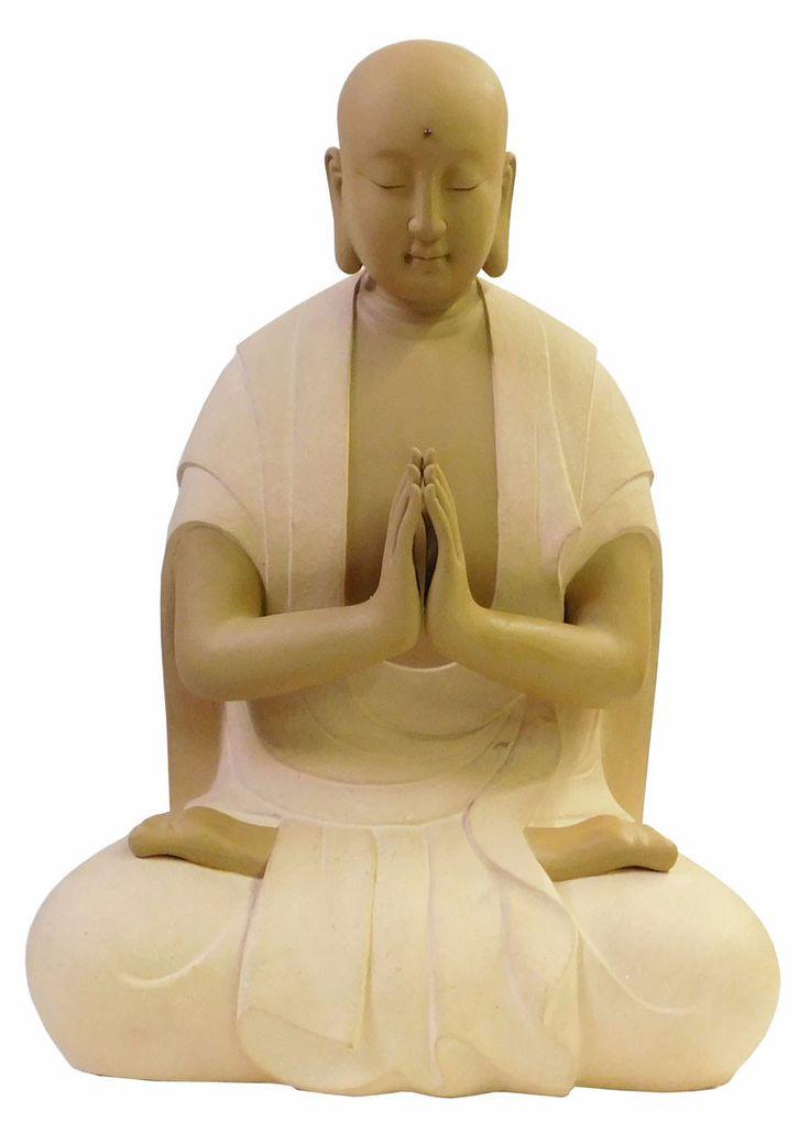 Chinese Ceramic Natural Color Sitting Buddha Statue cs1837S