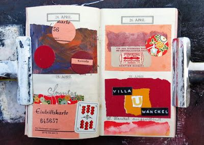 mano kellner, daily project 2016, a collage a day, gustavs agenda 24.4.-27.4.