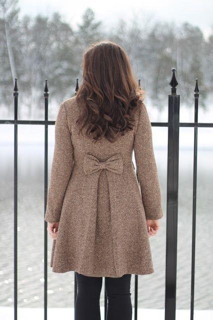 Wool Bow Coat.