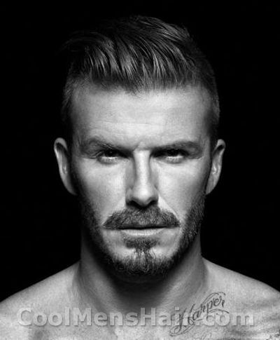 1920s mens facial hair   Photo of David Beckham slicked back undercut in H underwear campaign ...
