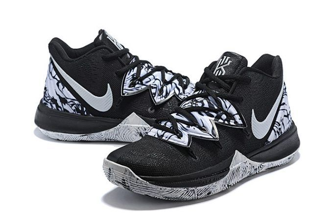 """4b976152f90fde Buy Nike Kyrie 5 """"BHM"""" Black White Shoes in 2019"""