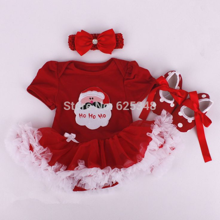 Retail 2017 baby rompers for christmas clothes baby girl clothes with hair band and shoes Cartoon suit girls christmas costumes