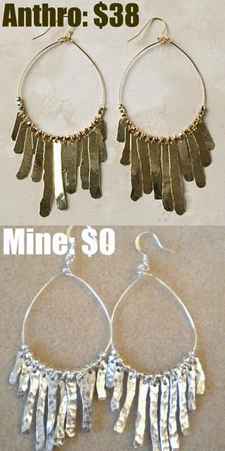 Another Anthropology DIY knock off! They'd make great Christmas gifts for the ladies on your list