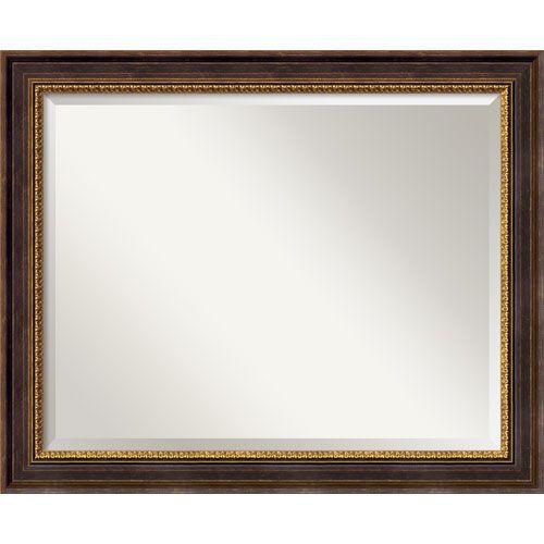 Veneto Distressed Black Wall Mirror - Large