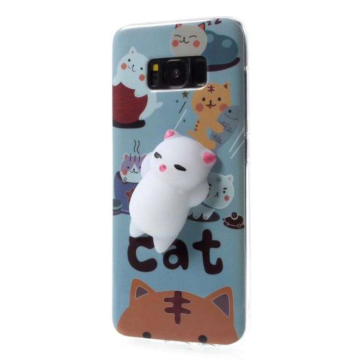 Bakeey™ Cartoon 3D Squishy Squeeze Slow Rising Lazy Cat Soft TPU Case for Samsung Galaxy S8 Plus Sale - Banggood.com