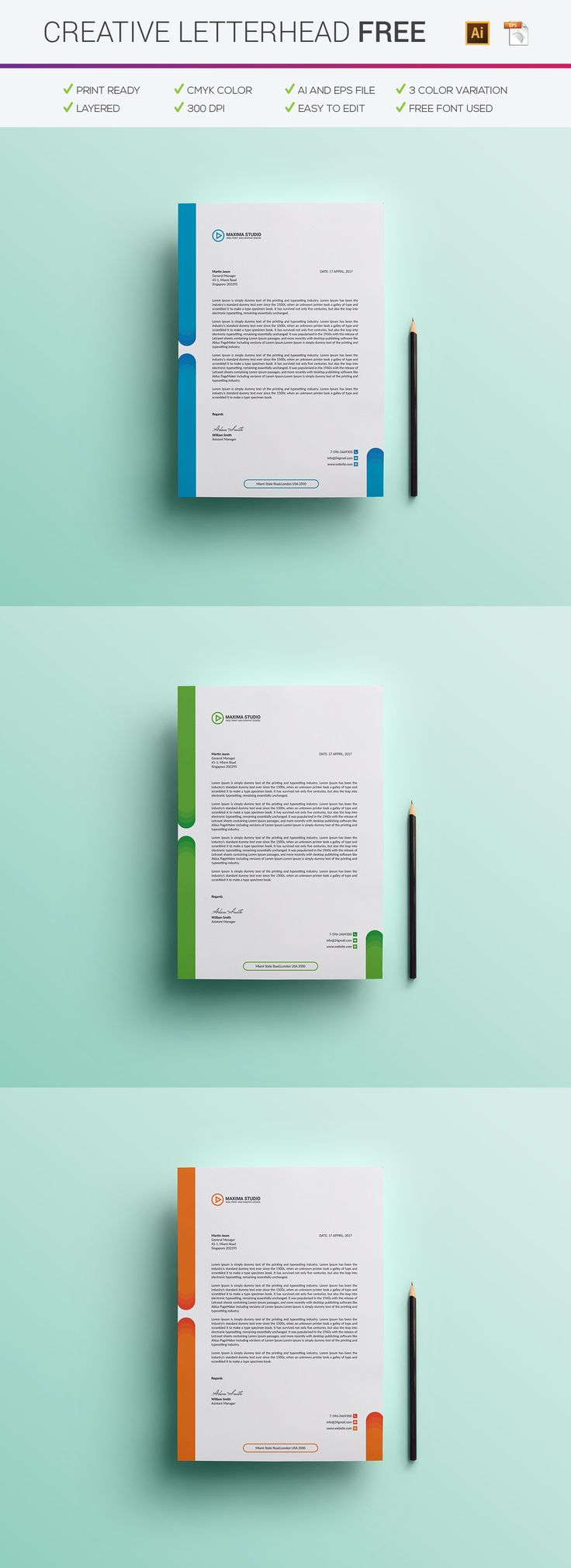 8 best letterhead design images on pinterest letterhead template free letterhead on behance spiritdancerdesigns Choice Image