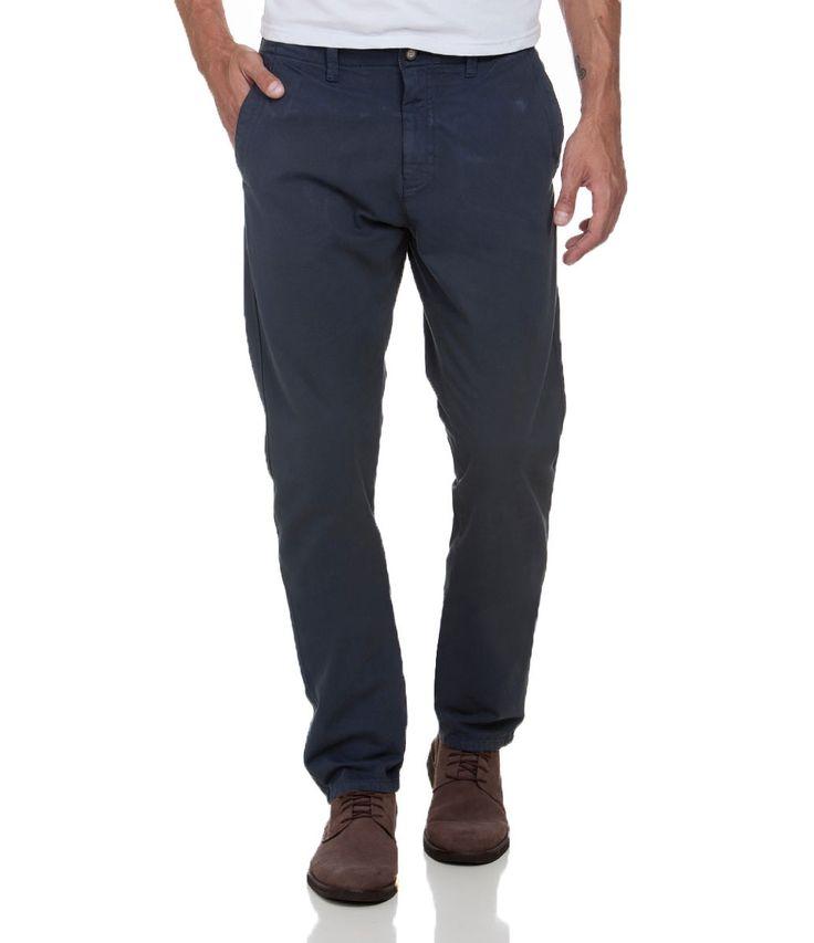Calça Slim Masculina em Sarja Básica - Lojas Renner