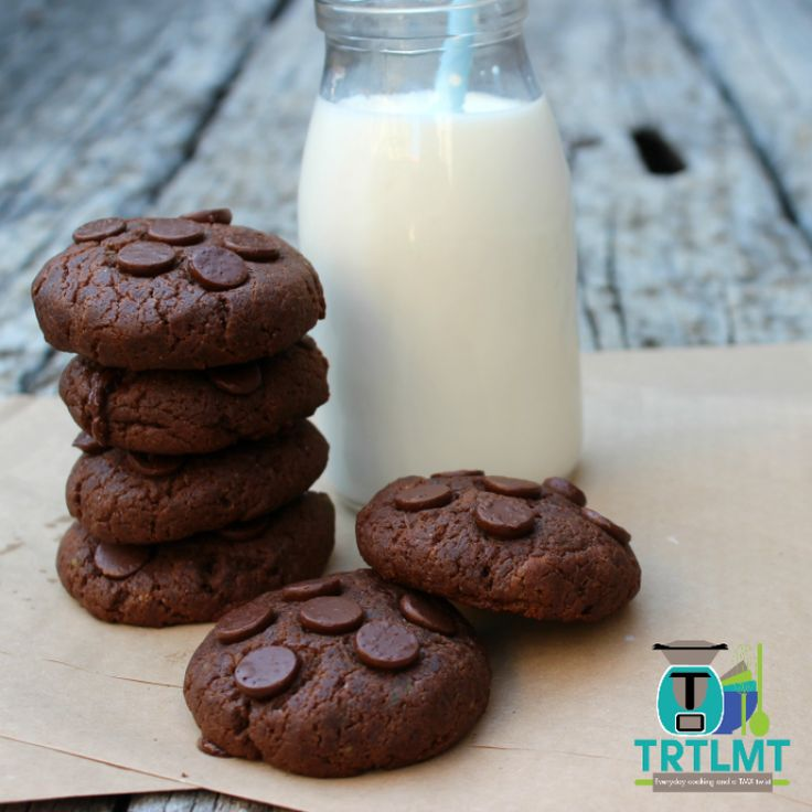 Chocolate Avocado Biscuits – The Road to Loving My Thermo Mixer - with an avocado! (Or can use apple)