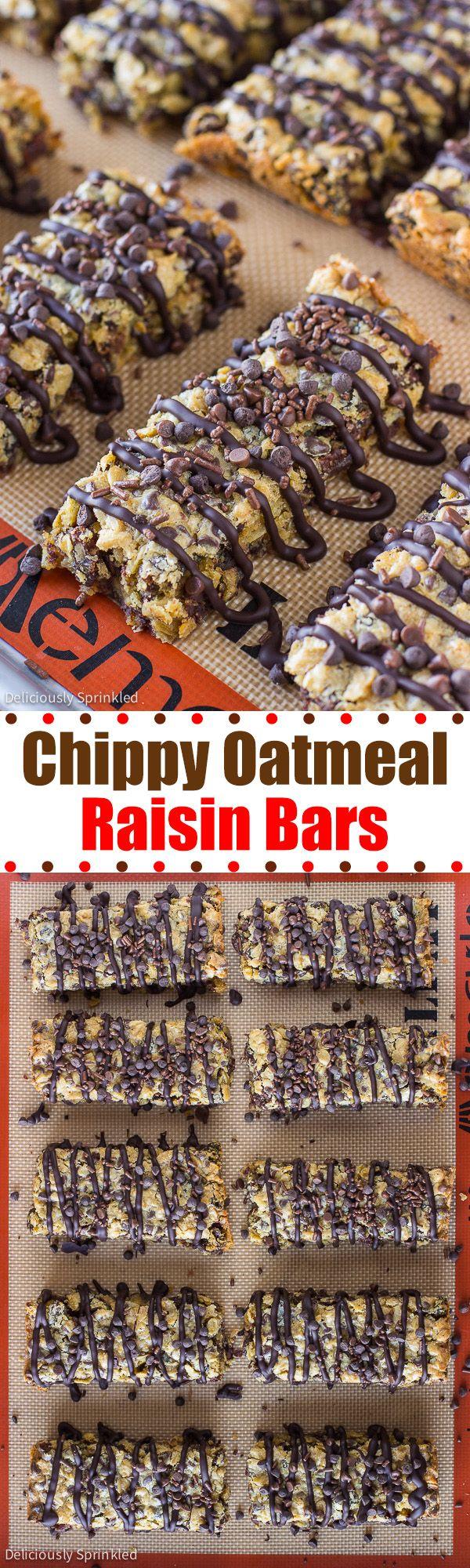 Chocolate Chip Oatmeal Raisin Bars