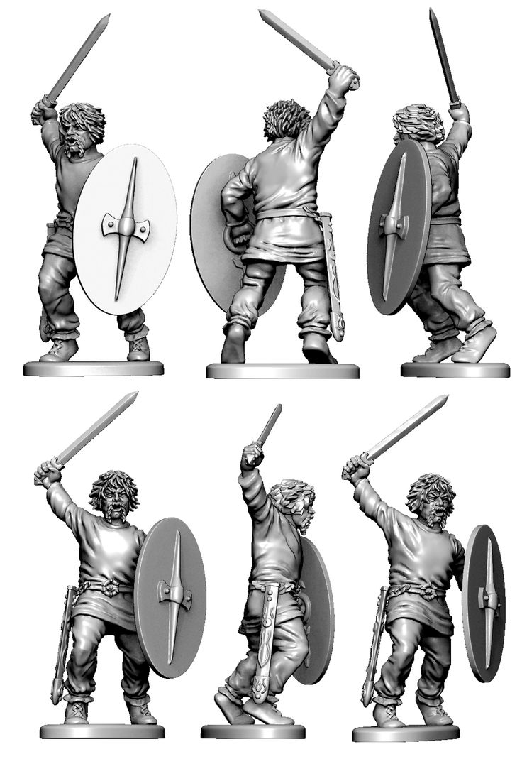 4th of 6 rank and file Gallic infantry figures. Following these will be the 3 command figures.