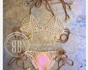 Oceana azul custom crochet bikini by beijobaby on Etsy