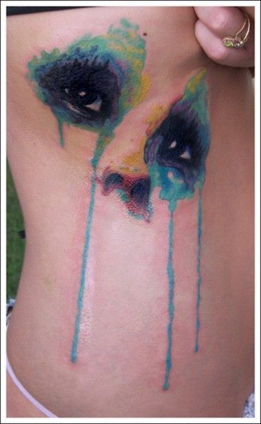water color tattoo artists | watercolor eyes via watercolor pirate ship via