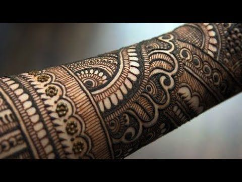 Indian bridal henna designs | Eid special henna design for hands 2017 - YouTube