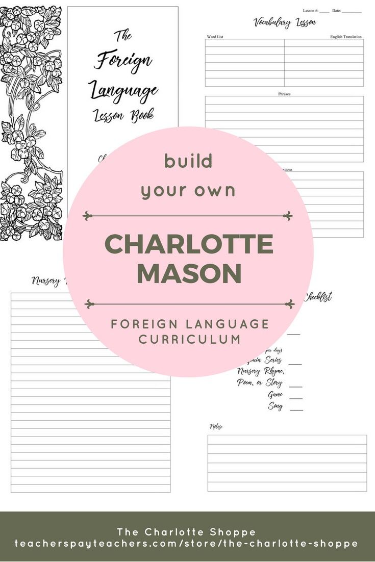 Build Your Own Charlotte Mason Foreign Language Lessons Charlotte
