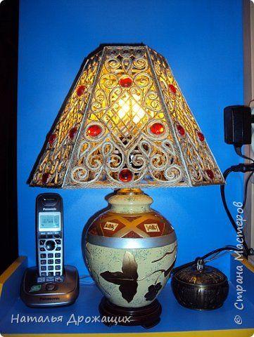 Захотелось поучиться работать со шпагатом, заодно починить старые настольные лампы. фото 12