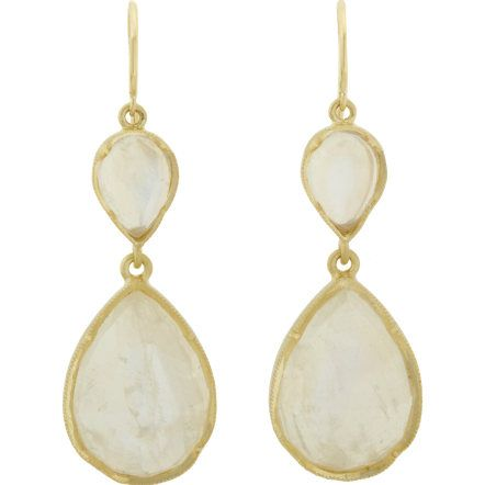 Irene Neuwirth Rainbow Moonstone Teardrop Earrings at Barneys.com