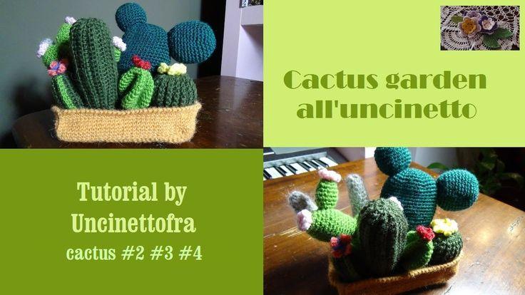 cactus garden all'uncinetto tutorial (cactus #2 #3 #4)