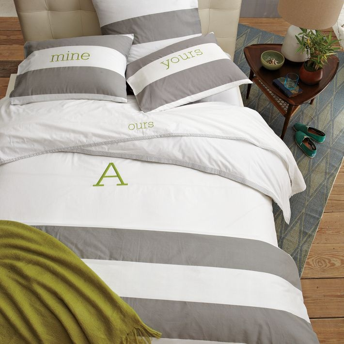 Love it! @westelm http://www.westelm.com/products/stripe-edge-duvet-b774/?pkey=cmonogram-bedding