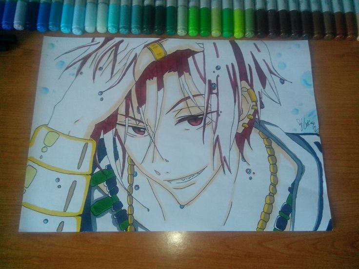 Rin Free! China , Copic Maker and paper