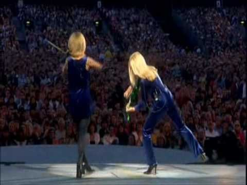 Mairead Nesbitt & Cora Smith - Dueling fiddlers in Lord of the Dance.  They're amazing artists and so much fun.  Inspiration in learning the violin.