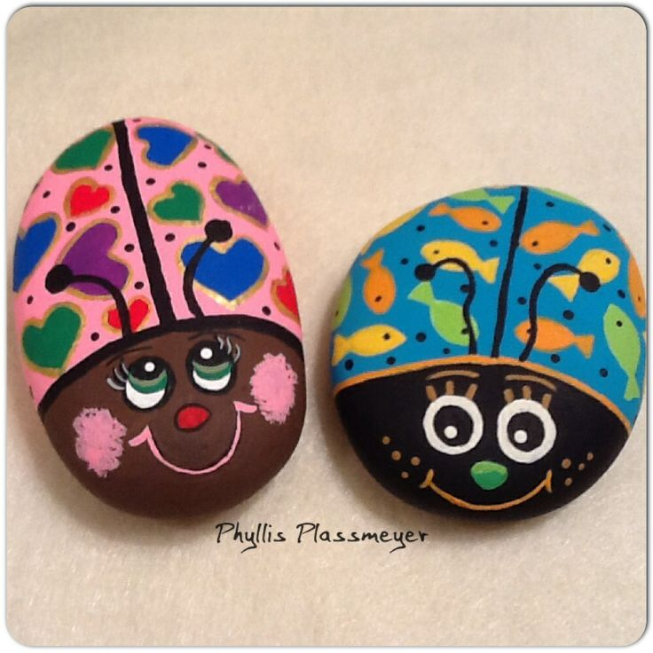 painted ladybug rocks 1112 best rock painting images on 2597