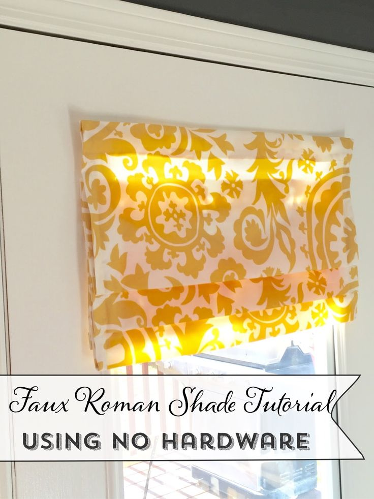 Faux Roman Shade Tutorial using no Hardware, Command Sticky strips #commandstickystrips @commandbrand