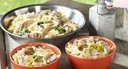 Recept » Colruyt Culinair: mac& chees met tonijn prei en champignons