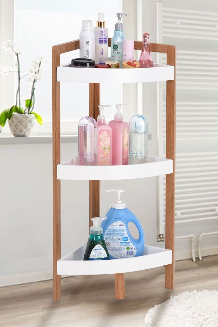 This Is Brand New 3 Tiers Storage Rack With Simple Appearance Design Which Provides Easy Storage And Displ Shower Storage Rack Shelf Bathroom Storage Shelves