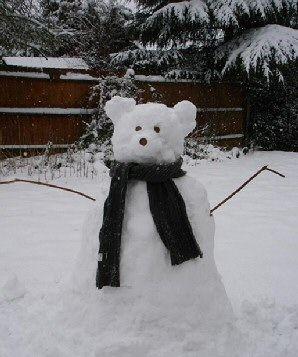 Cute Bear Snowman