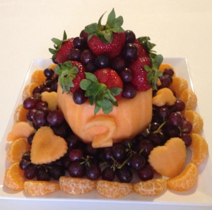 2nd bday fruits cake