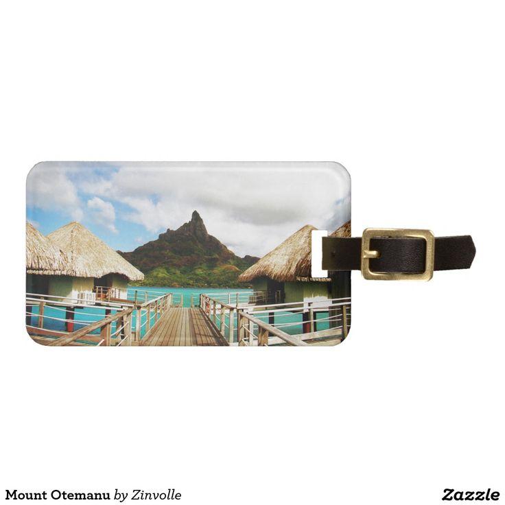 Mount Otemanu Luggage Tag