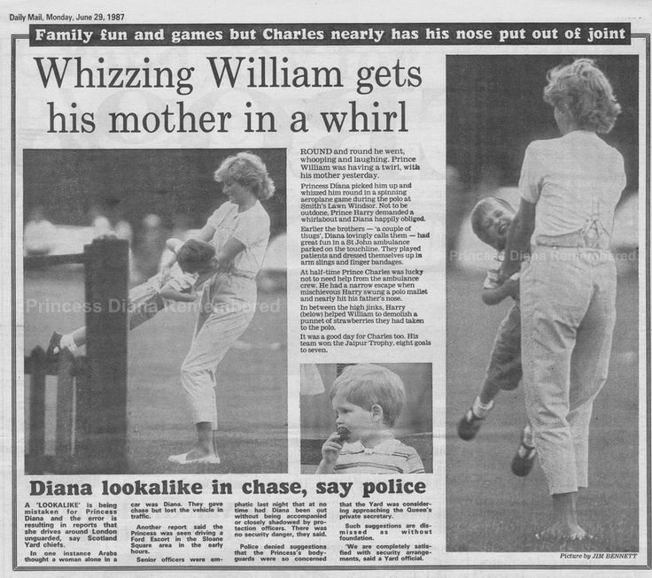 Memories Of Diana - Whizzing William Gets Diana in a Whirl at Polo Match at Smiths Lawn - June 28th 1987
