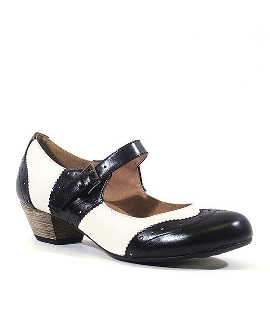 Black amp white sweety mary jane shoes pinterest