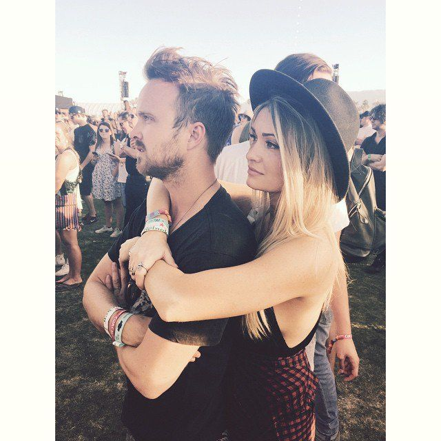Pin for Later: You Won't Be Able to Get Enough of Aaron Paul's Romance With Lauren Parsekian