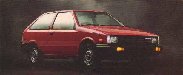 1984 Hyundai Excel.