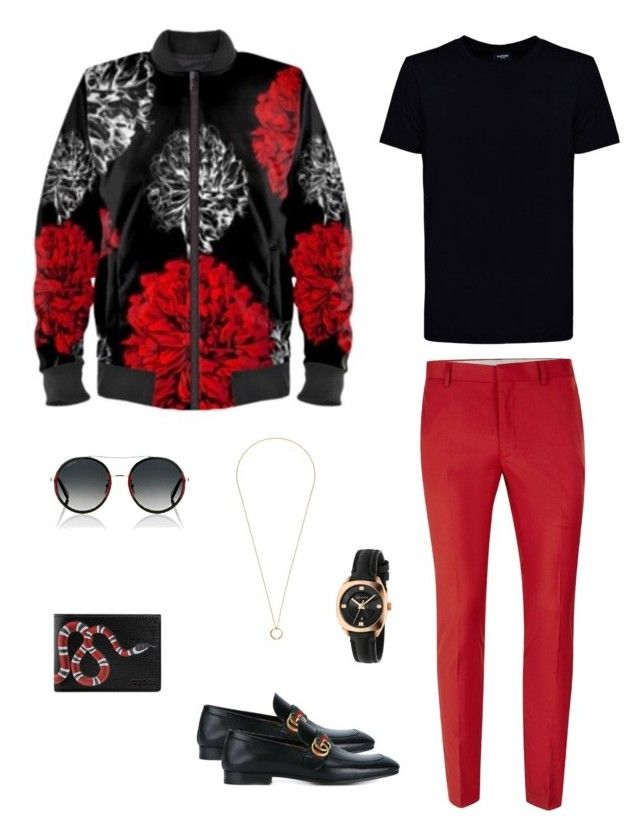 """""""Floral fireworks"""" jacket ootd by guutanii on Polyvore featuring polyvore, Kloters Milano, Topman, Gucci, men's fashion, menswear and clothing"""