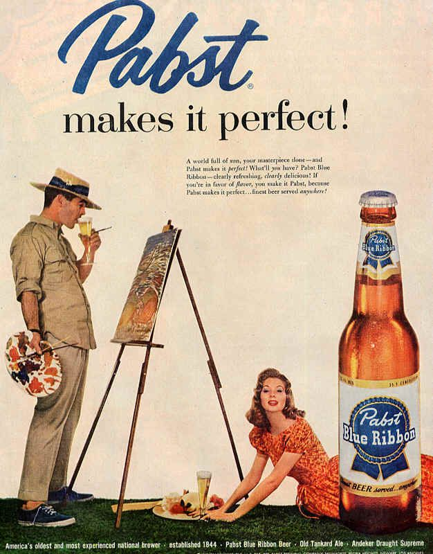 The Evolution Of Pabst Blue Ribbons Beer Advertising