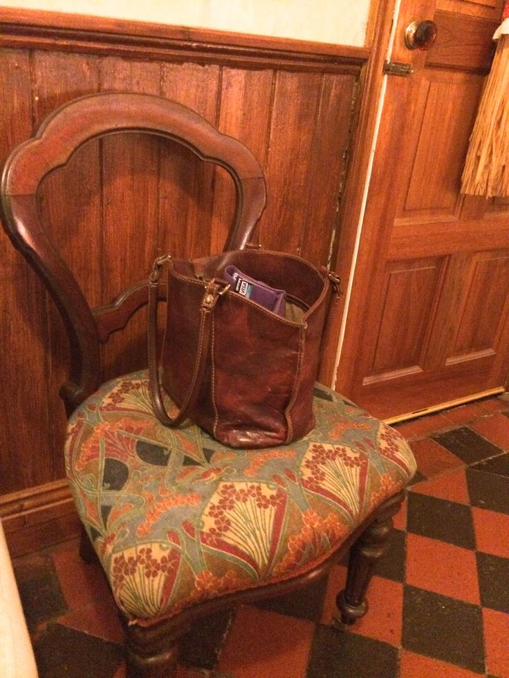 Lovely vintage chair should be in the B&B but is nicer in the snug