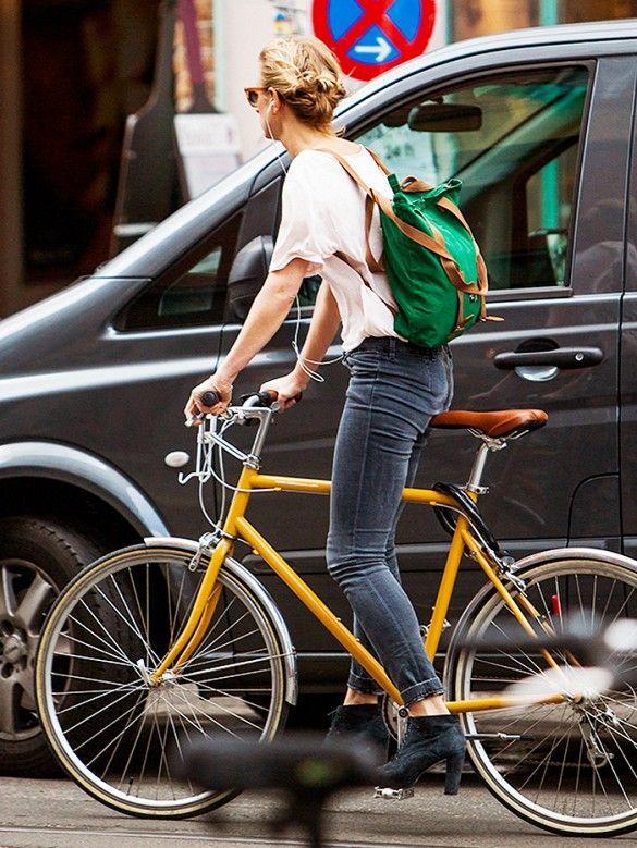 Amei a bicicleta amarela!