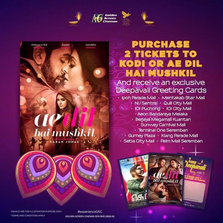 28 Oct-6 Nov 2016: Golden Screen Cinemas EXCLUSIVE Deepavali Greeting Cards