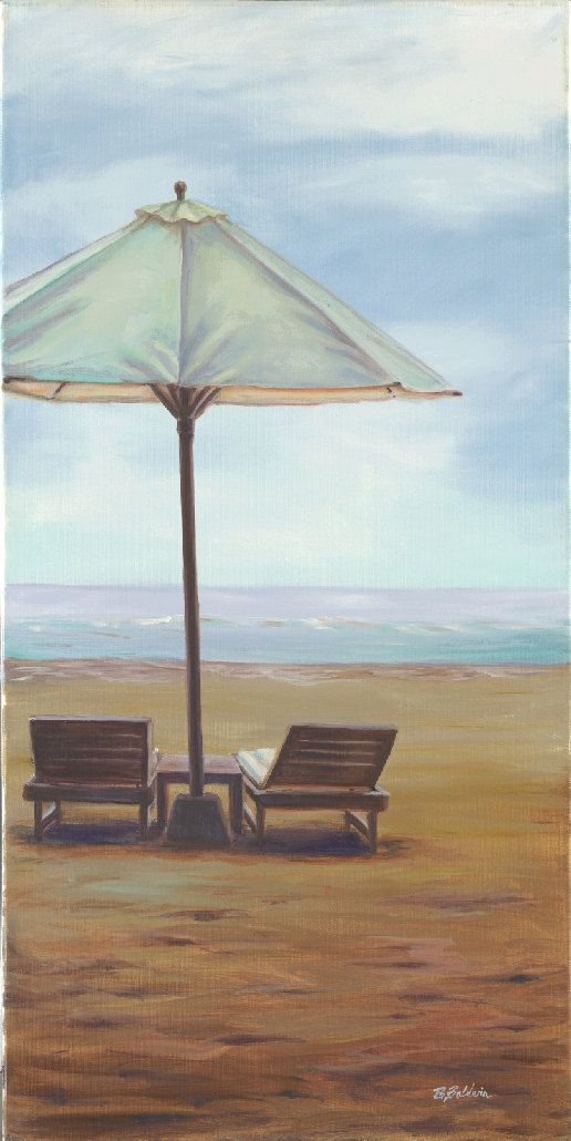 """Oil Painting """"Bali Beach Umbrella"""" Oil painting inspired by the everyday beauty of life in Bali, Indonesia. on Etsy, $995.00"""