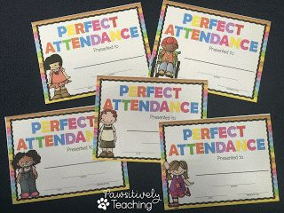Perfect Attendance and Excellent Citizenship Awards   Looking for a way to recognize your students' accomplishments this year?   Both of these awards are customizable and are available to download for FREE.  My kids love getting an award that is customized just for them!  awards certificate end of the year awards K-5 pawsitivelyteaching perfect attendance certificate
