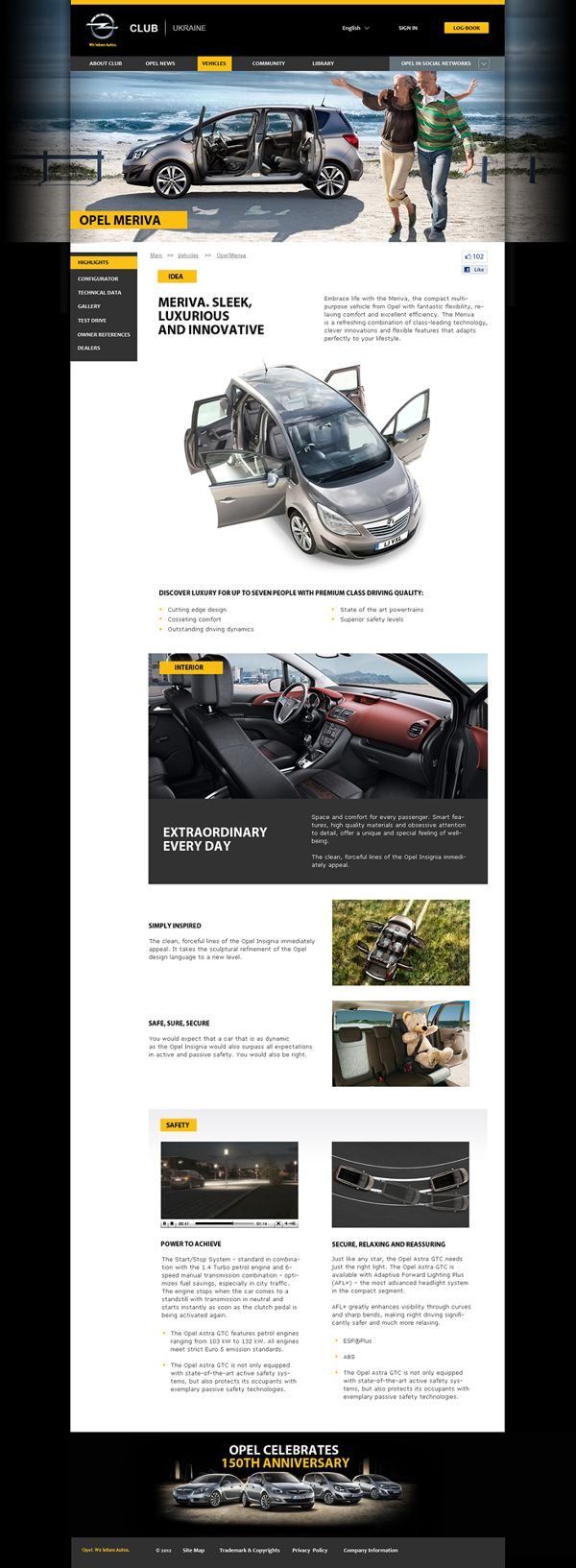Ukrainian Opel Club by Anna Klukva, via Behance