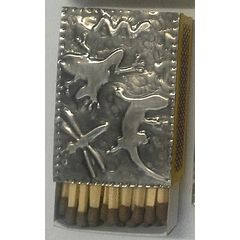 """One of a kind"" Box Matches with  Handcrafted Pewter Art by Hanli for R1.00"
