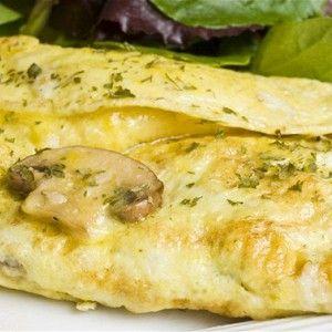 Нежный омлет с грибами и сыром рецепт – низкокалорийная еда: завтраки…