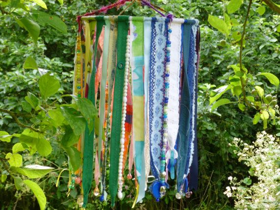 Regenboog-textiel opknoping, kleur, kraaltjes, Mobile, handgemaakte decoratie…