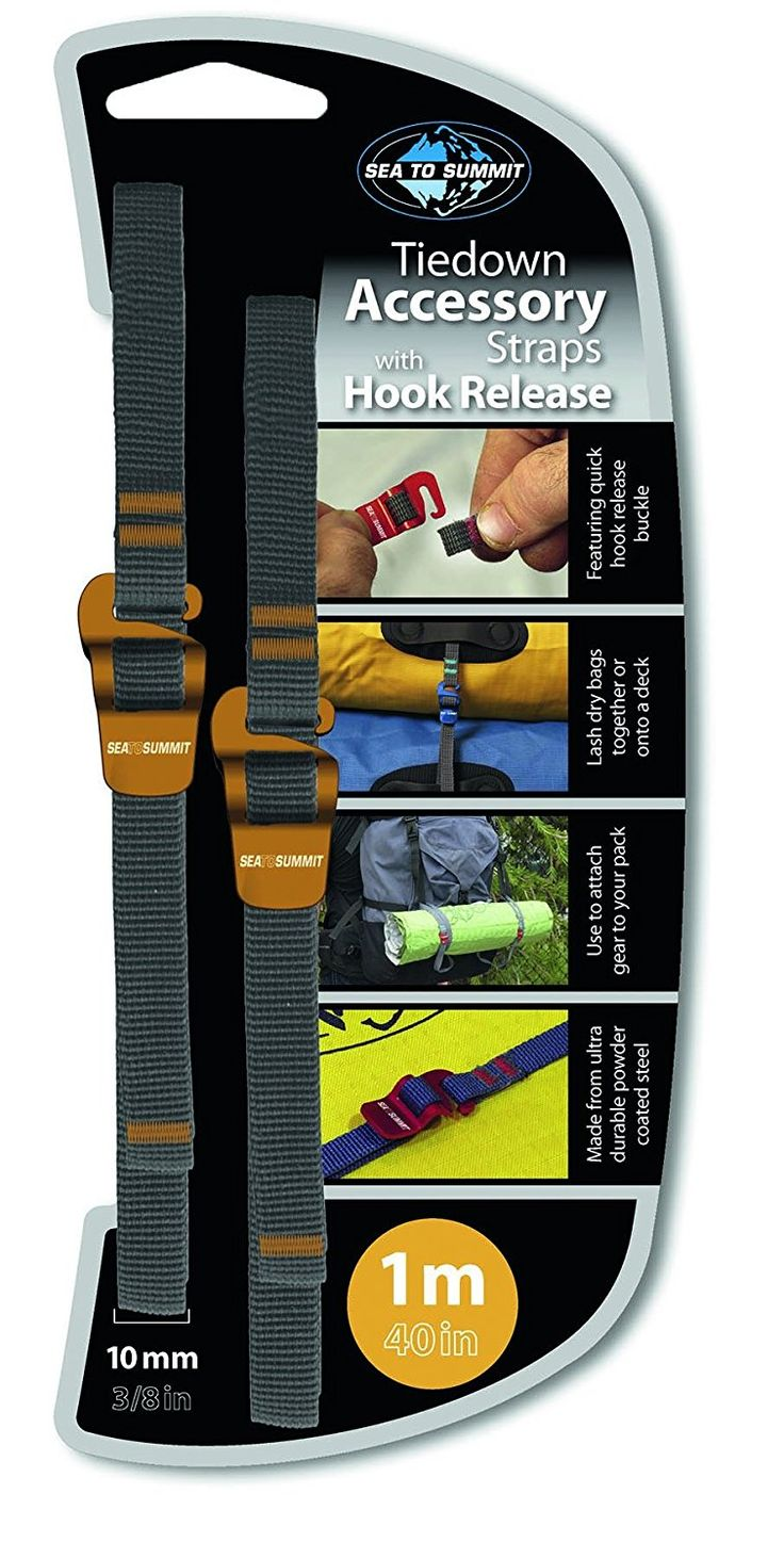 Sea to summit accessory strap with hook release pair color may vary
