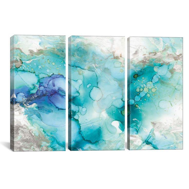 icanvas teal marble by carol robinson canvas wall art on icanvas wall art id=57391