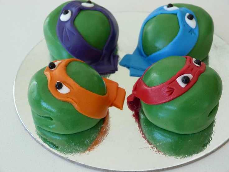 Images For > Ninja Turtle Cupcake Toppers | cake ideas ...